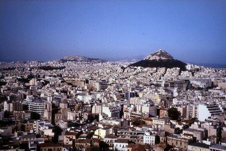 アクロポリスからのアテネの街