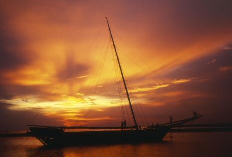 マラッカの夕陽
