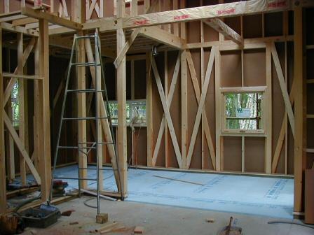木造在来工法の筋交の画像