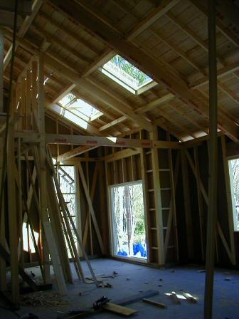 木造在来工法の軸組