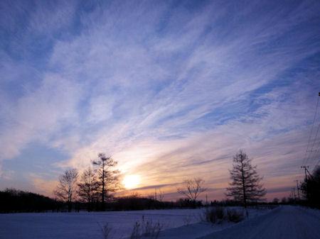 厳寒の日の出
