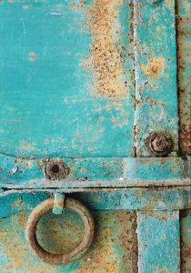 鉄扉のディテール